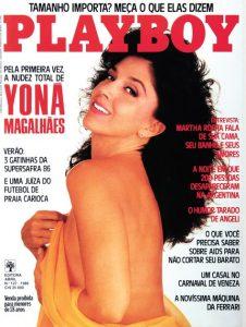 A atriz também posou para a revista Playboy, no final da década de 80