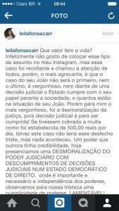 """postagem-leila-169x300 """"Nem diante da Justiça, Estado cumpre papel na saúde"""", diz Leila"""