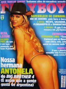 Antonela posou para a revista Playboy após deixar o reality show brasileiro