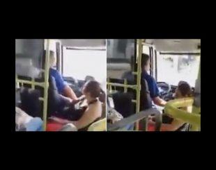 Mulher ônibus