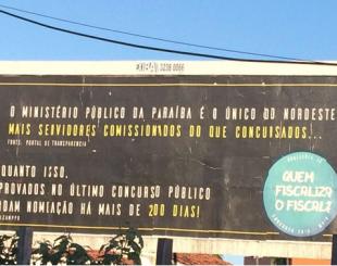 Outdoor colocado na principal avenida de João Pessoa cobra nomeações