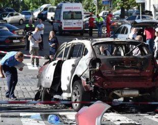 Jornalista morre em explosão de bomba em carro na Ucrânia