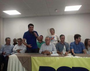 Manoel Jr compareceu a evento do PSDB e PSC