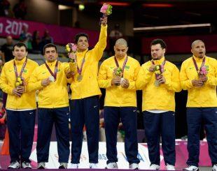 Golbol brasileiro conquistou a medalha de prata na Paralimpíada de Londres, em 2012 (Foto: Agência Getty)