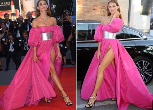 Modelo brasileira causa frisson ao dispensar calcinha no Festival de Veneza