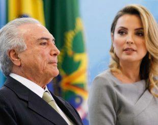 Brasília - DF, 03/08/2016. Presidente em Exercício Michel Temer e a Primeira-dama, Marcela Temer durante solenidade de apresentação de oficiais-generais recém-promovidos. Foto: Beto Barata/PR