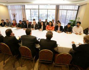 Representantes da Contraf-CUT e da Fenaban fazem nova reunião de negociação em São Paulo (Foto: Jaílton Garcia / Contraf-CUT)