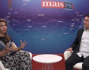 A vereadora Eliza Virgínia é entrevistada na MaisTV