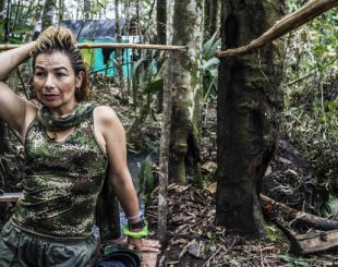 Yurluey Mendoza 33, a FARC fighter who joined the rebels at age 14,Many,is preparing to re-enter the modern world after years at war. Photo for The Washington Post by Joao Pina