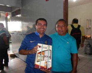 Mandu com o também radialista Jota Alves