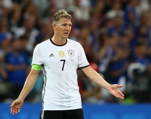 MARSEILLE, FRANCE - JULY 07:  Bastian Schweinsteiger of Germany reacts during the UEFA EURO semi final match between Germany and France at Stade Velodrome on July 7, 2016 in Marseille, France.  (Photo by Alexander Hassenstein/Getty Images)