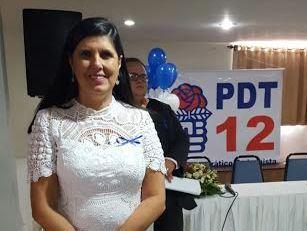 Lígia Feliciano, durante encontro estadual do PDT em João Pessoa