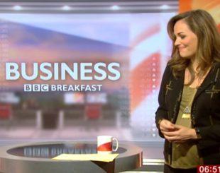 Victoria Fritz sentiu as dores do parto enquanto apresentava o BBC Breakfast – Foto: Reprodução/ Twitter