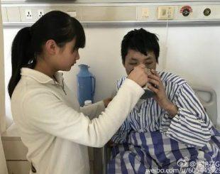 Irmão de Xu está doente há três anos Foto: Reprodução / Weibo