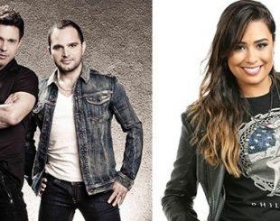 """A dupla Zezé Di Camargo & Luciano e a cantora sertaneja Rafaela Miranda gravaram """"Cotovelo Vai Doer"""""""