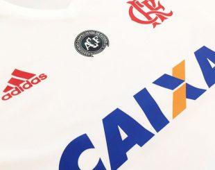 Camisa que o Fla usará para homenagear a Chapecoense (Foto: Divulgação)