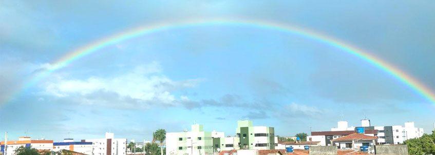Arco-íris no bairro do Cuiá
