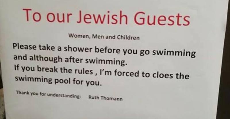 Hotel suíço acusado de anti-semitismo