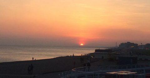 Pôr do Sol em Brighton, Inglaterra